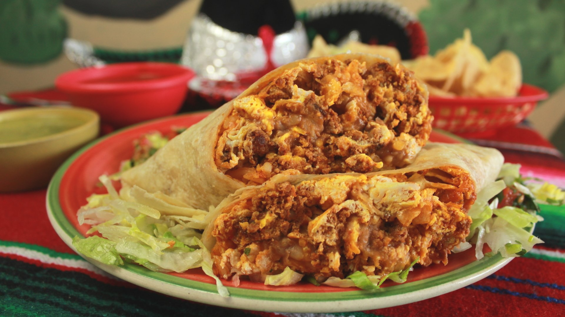 Loco Charlie's Mexican Grill Chorizo and Eggs Burrito